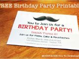 Free Printable Mustache Birthday Party Invitations Download Free Moustache Birthday Invitation Printable