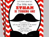 Free Printable Mustache Birthday Party Invitations Little Man Mustache Invitation Printable or Printed with Free