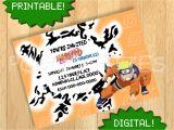 Free Printable Naruto Birthday Invitations Printable Naruto Uzumaki Invitation Birthday Party by