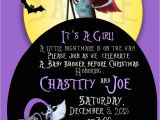 Free Printable Nightmare before Christmas Baby Shower Invitations Nightmare before Christmas Baby Shower Invite