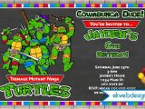 Free Printable Ninja Turtle Party Invitations Free Printable Ninja Turtle Birthday Party Invitations