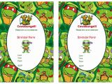 Free Printable Ninja Turtle Party Invitations Teenage Mutant Ninja Turtles Birthday Invitations