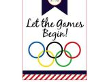 Free Printable Olympic Birthday Party Invitations Olympics Sign 600×777