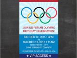 Free Printable Olympic Birthday Party Invitations Olympics Ticket Birthday Invite Let the Games Begin