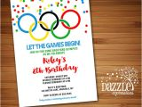 Free Printable Olympic Birthday Party Invitations Printable Kids Olympic Games Birthday Invitation Free