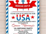 Free Printable Olympic Birthday Party Invitations Printable Olympic Party Invitation by Madeline Lewis