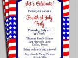 Free Printable Patriotic Birthday Invitations Fourth Of July Invitation Printable Celebration Birthday