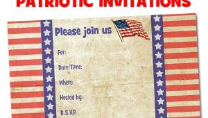 Free Printable Patriotic Birthday Invitations Free Printable Patriotic Invitations Planning A 4th Of