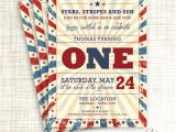 Free Printable Patriotic Birthday Invitations Patriotic Vintage Memorial Day or July 4th Birthday