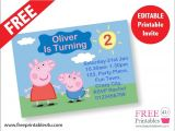 Free Printable Peppa Pig Birthday Invitations Free Peppa Pig Invites Freeprintables4u