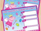 Free Printable Peppa Pig Birthday Invitations Free Printable Princess Fairy Peppa Pig Birthday Invitation