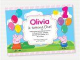Free Printable Peppa Pig Birthday Invitations Peppa Pig Balloons Birthday Invitation Diy Printables