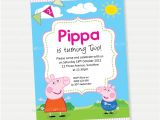 Free Printable Peppa Pig Birthday Invitations Peppa Pig Birthday Invitation Diy Printable