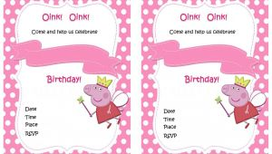 Free Printable Peppa Pig Birthday Invitations Peppa Pig Birthday Invitations – Birthday Printable