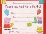 Free Printable Peppa Pig Birthday Invitations Peppa Pig Birthday Invitations Template