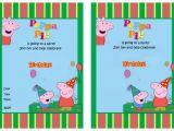 Free Printable Peppa Pig Birthday Invitations Peppa Pig Party Invitations – Gangcraft