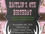 Free Printable Pink Camo Birthday Invitations Camo Hunting Deer Invitation Pink Realtree Camo Birthday