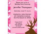 Free Printable Pink Camo Birthday Invitations Deer Hunter Pink Camouflage Birthday Invitation Zazzle