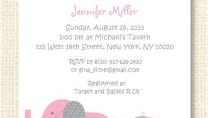 Free Printable Pink Elephant Baby Shower Invitations Polka Dot Pink Elephant Baby Shower Invitation Printable