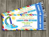 Free Printable Pool Party Birthday Invitations 7 Best Of Free Printable Pool Birthday Party