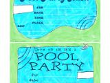 Free Printable Pool Party Birthday Invitations Bnute Productions May 2013
