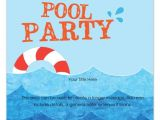 Free Printable Pool Party Birthday Invitations Free Pool Party Invitation Template