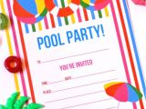 Free Printable Pool Party Invites Free Printable Summer Pool Party Invitation the Girl