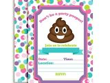 Free Printable Poop Emoji Birthday Invitations Emoji Texting Birthday Party Fill In Invitations Arts
