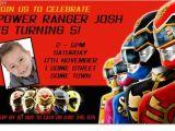 Free Printable Power Ranger Birthday Invitations Cu1011 Boys Power Rangers Birthday Invitation Boys