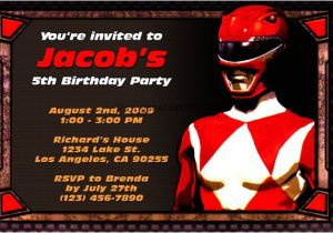 Free Printable Power Ranger Birthday Invitations First Birthday Party Invitations Boy Drevio Invitations