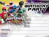 Free Printable Power Ranger Birthday Invitations Party Invitations Power Rangers Megaforce 10 Cards Per