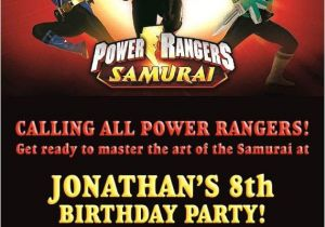 Free Printable Power Ranger Birthday Invitations Power Ranger Invitation Party Ideas Pinterest
