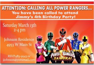 Free Printable Power Ranger Birthday Invitations Power Rangers Birthday Invitations Ideas Bagvania Free