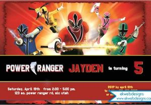 Free Printable Power Ranger Birthday Invitations Power Rangers Invitation Printable Power Rangers