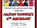 Free Printable Power Ranger Birthday Invitations Power Rangers Invitations 2 Invitations Pinterest