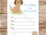 Free Printable Puppy Birthday Invitations Unavailable Listing On Etsy