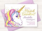 Free Printable Rainbow Unicorn Birthday Invitations Best 25 Unicorn Birthday Invitations Ideas On Pinterest