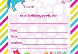 Free Printable Rainbow Unicorn Birthday Invitations Fill In Birthday Party Invitations Printable Rainbows and