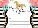 Free Printable Rainbow Unicorn Birthday Invitations Free Printable Golden Unicorn Birthday Invitation Template