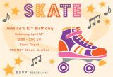 Free Printable Roller Skating Party Invitations River Bridge Retro Roller Skate Party Invitation