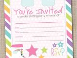 Free Printable Roller Skating Party Invitations Roller Skate Party Invitation Free Printable