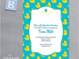 Free Printable Rubber Ducky Baby Shower Invitations 7 Best Of Rubber Ducky Printable Template Free