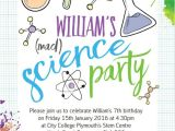 Free Printable Science Birthday Party Invitations Mad Science Party Invitation From 0 80 Each