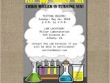 Free Printable Science Birthday Party Invitations Printable Science themed Birthday Party Invitation