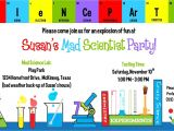 Free Printable Science Birthday Party Invitations Science Birthday Party Invitations