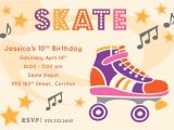 Free Printable Skateboard Birthday Party Invitations River Bridge Retro Roller Skate Party Invitation