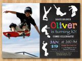 Free Printable Skateboard Birthday Party Invitations Skateboard Birthday Invitation Boy Skating theme Party