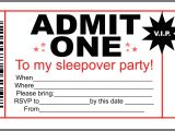 Free Printable Sleepover Birthday Party Invitations Invitations for Sleepover Party