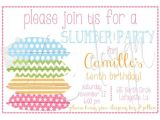 Free Printable Sleepover Birthday Party Invitations Slumber Party Invitation Printable Free