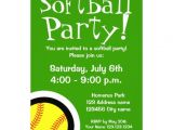 "Free Printable softball Birthday Invitations softball Party Invitations for Birthdays and Bbq 5"" X 7"